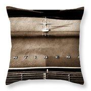 1967 Lincoln Continental Hood Ornament - Emblem Throw Pillow