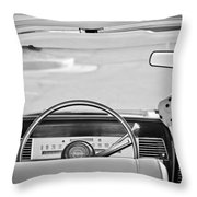 1967 Lincoln Continental Steering Wheel -014bw Throw Pillow
