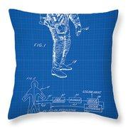 1967 Nasa Astronaut Ventilated Space Suit Patent Art 1 Throw Pillow