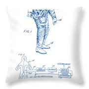 1967 Nasa Astronaut Ventilated Space Suit Patent Art 2 Throw Pillow