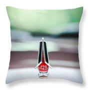 1967 Plymouth Belvedere Gtx Hood Ornament -1013c Throw Pillow