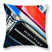1967 Pontiac Firebird Grille Emblem Throw Pillow