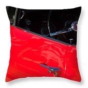 1967 Pontiac Firebird Steering Wheel Emblem Throw Pillow
