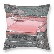 1967 Pontiac Gto Throw Pillow