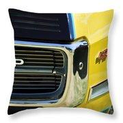 1967 Pontiac Hurst Grand Prix Convertible Grille Emblem -3569c Throw Pillow