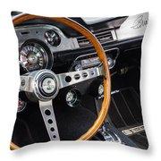 1967 Shelby Gt 350 Signed Dash Throw Pillow