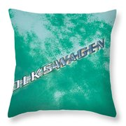 1967 Volkswagen Vw Bug Emblem Throw Pillow
