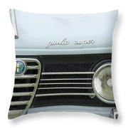 1968 Alfa Romeo Giulia Super Grille Throw Pillow