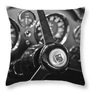 1968 Aston Martin Steering Wheel Emblem Throw Pillow