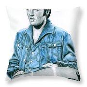 1968 Blue Denim Suit Throw Pillow