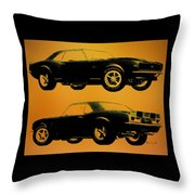 1968 Camaro Ss Side View Throw Pillow