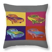 1968 Chevrolet Camaro 327 Muscle Car Pop Art Throw Pillow