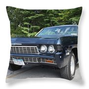 1968 Chevrolet Impala Sedan Throw Pillow by John Telfer