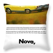 1968 Chevy Nova - The Great Equalizer Throw Pillow