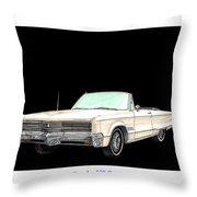 1968 Chrysler 300 Convertible Throw Pillow