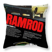 1968 Dodge Charger R/t - Ramrod Throw Pillow