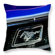 1968 Ford Mustang Cobra Gt 350 Grille Emblem Throw Pillow