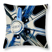 1968 Ford Mustang Fastback 427 Shelby Cobra Wheel Throw Pillow