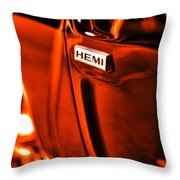 1968 Hemi Dodge Charger Throw Pillow