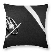1968 Maserati Ghibli Emblem Throw Pillow