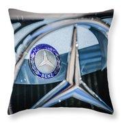 1968 Mercedes-benz 280 Sl Roadster Emblem -0919c Throw Pillow