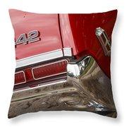 1968 Oldsmobile 442 Throw Pillow
