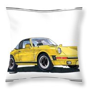 1968 Porsche Targa Throw Pillow