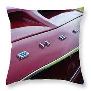 1968 Shelby Gt350 Hood Emblem Throw Pillow