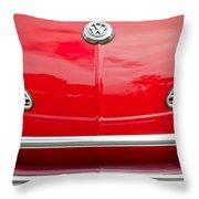 1968 Volkswagen Karmann Ghia Convertible Hood Emblem Throw Pillow