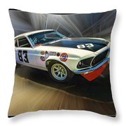 1969 Boss 302 Mustang Throw Pillow