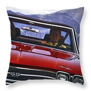 1969 Chevelle Ss 396 Throw Pillow