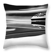 1969 Chevrolet Camaro 427 Hood Emblem - 0879bw Throw Pillow