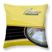 1969 Chevrolet Camaro Emblem -0236c Throw Pillow