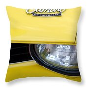 1969 Chevrolet Camaro Emblem -0241c Throw Pillow