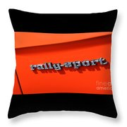 1969 Chevrolet Camaro Rs - Orange - Side Rs - 7562 Throw Pillow