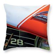 1969 Chevrolet Camaro Z-28 Emblem Throw Pillow