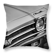 1969 Chevrolet Chevelle Ss 396 Throw Pillow