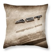 1969 Chevrolet Corvette 427 Emblem Throw Pillow