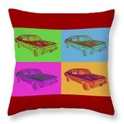 1969 Chevrolet Nova Yenko 427 Muscle Car Pop Art Throw Pillow