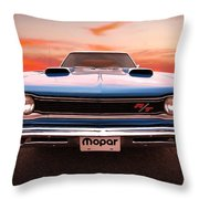 1969 Dodge Coronet R/t In B5 Blue Throw Pillow