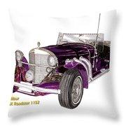 1969 Excalibur Ss Roadster Throw Pillow