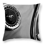1969 Ford Mustang Mach 1 Side Emblem Throw Pillow by Jill Reger