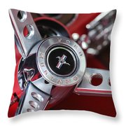1969 Ford Mustang Mach 1 Steering Wheel Throw Pillow