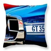 1969 Ford Mustang Shelby Gt350 Grille Emblem Throw Pillow