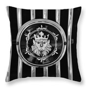 1969 Morgan Roadster Grille Emblem 3 Throw Pillow by Jill Reger