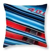1969 Pontiac 400 Firebird Convertible Taillight Emblem -0029c Throw Pillow