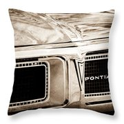 1969 Pontiac Firebird 400 Grille Emblem Throw Pillow