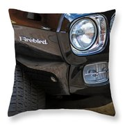 1969 Pontiac Firebird 400 Side Emblem Throw Pillow