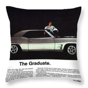 1969 Pontiac Firebird 400 - The Graduate Throw Pillow