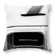 1969 Pontiac Trans Am Grille Emblem Throw Pillow